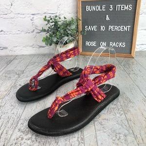 Sanuk Ella Yoga Mat Sling Sandal Size 7
